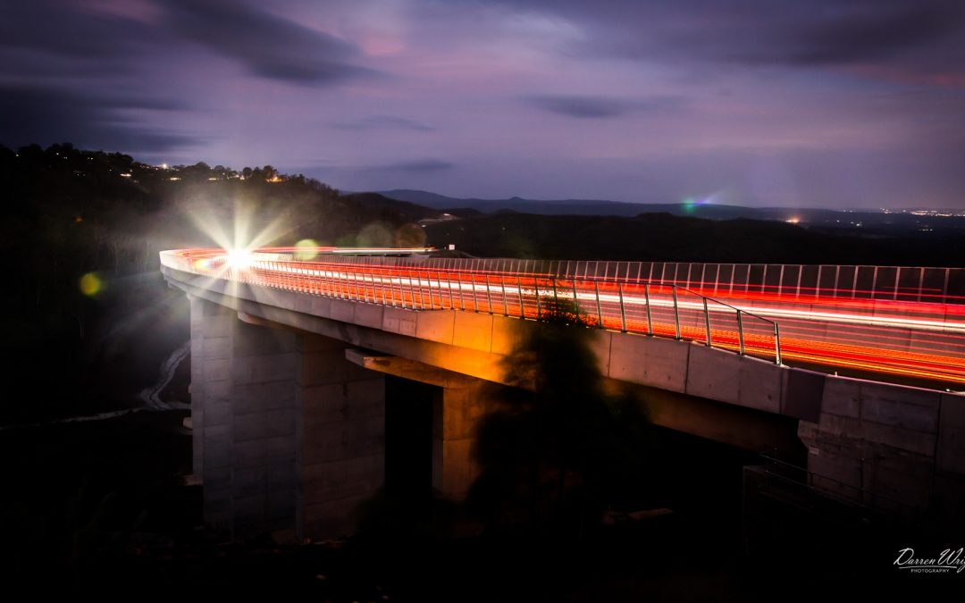 Toowoomba Second Range Crossing – Viaduct by Night